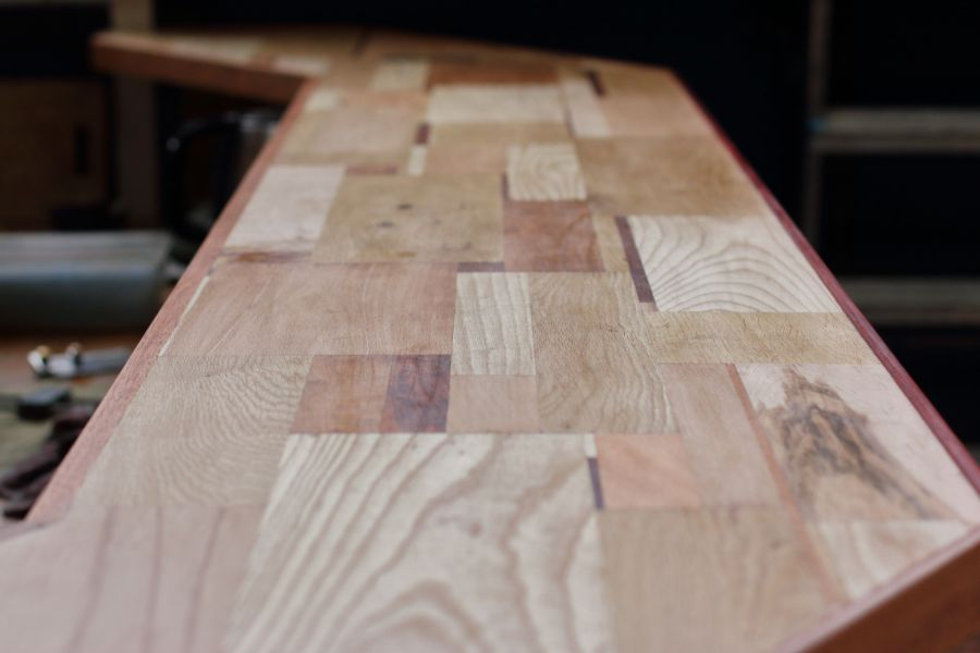Scrapwood bar top @ Atelier Espenaer
