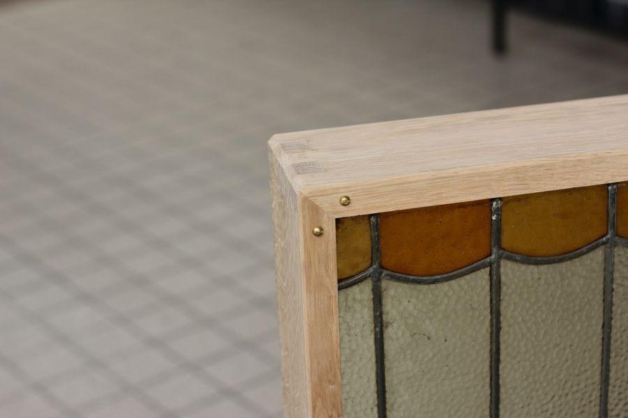 Custom frame for stained glass @ Atelier Espenaer
