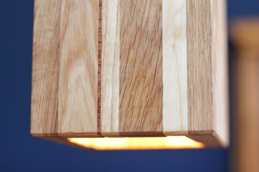 Wooden lamps by Atelier Espenaer